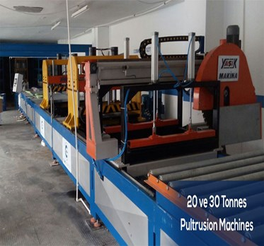 20 and 30 Tonnes Pultrusion Machines